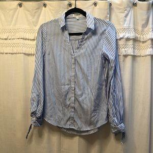 Express portofino tie cuff shirt